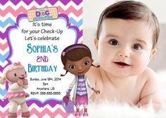 Doc McStuffins Birthday Chevron Invitations 899 Party Express