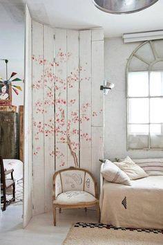 Más de 20 dormitorios con encanto: paredes decoradas