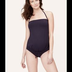 NWT LOFT Maternity Navy One Piece Swim Suit New with tags LOFT Maternity one piece swim suit. The perfect basic suit to get you through your pregnancy as well as post pregnancy! LOFT Swim