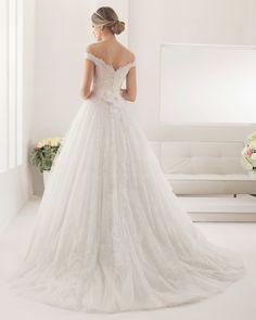 8B142 PASTEL   Wedding Dresses   2015 Collection   Alma Novia (back)