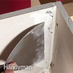 16261fcaa5 DIY Drywall Joint tips ~ Fill wide gaps with setting-type compound  Reparação De Drywall