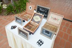 We love this cigar bar our planner @Haley Brantley set up! Such a great touch for any wedding