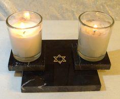 Modern Shabbat Candle Holder by DesertKippot on Etsy, $25.00