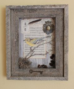Vintage Songbird Assemblage by doreycardinale on Etsy