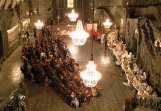 Easter market in a salt mine in the Wieliczka