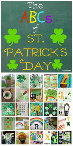PlayDrMom rounds up the ABCs of St Patrick's Day check out the letter F! St Patrick Day Activities, Spring Activities, Holiday Activities, Craft Activities For Kids, Holiday Crafts, Holiday Fun, Crafts For Kids, Saint Patricks, St Patricks Day
