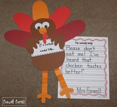 Foxwell Forest: If a Turkey Could Talk... {A Thanksgiving Craftivity}