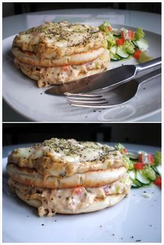 GET IT ON - Sandwich Cake, Sandwiches, Salmon Burgers, Ethnic Recipes, Toast, Pizza, Bread, Snacks, Foods