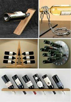 Design, Uncorked: 34 Innovative Wine Racks and Cellars Wine Bottle Holders, Wine Bottle Crafts, Cool Wine Racks, Wood Projects, Woodworking Projects, Wine And Beer, Wine Storage, Wine Cellar, Cool Stuff