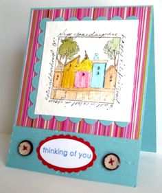 IC243 No Birds, Just Their Houses by Benzi - Cards and Paper Crafts at Splitcoaststampers