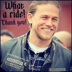 No! Thank you! I enjoyed SOA, especially the episodes we got to see yo butt!...haha