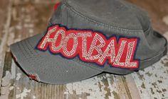 Custom football Mom cadet Hat by SassyMoms on Etsy Football Cheer, Custom Football, Football Stuff, Softball, Soccer, Raising, My Hair, Style Me, Curves