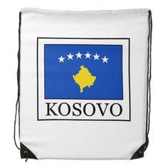 Shop Kosovo Drawstring Bag created by KellyMagovern. Kosovo Flag, Political Events, National Flag, Activity Games, Black Trim, Back To Black, Shower Games, Flags, Drawstring Backpack