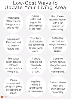 Updating your living space needn't come with worries of high cost, there are plenty of inexpensive ways to spruce up your living room with little cost and little time. We've got 19 ways you can change the look and feel of your living area that won't break the bank… #Interiors #InteriorDesign #HomeDecor
