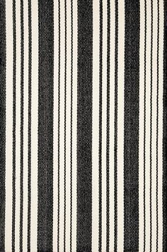 Stair runner - Birmingham Black Woven Cotton Rug