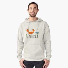 Walking Fox Pullover Hoodie Front