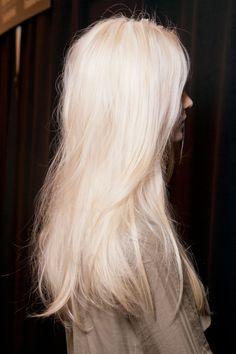 Beautiful long platinum hair