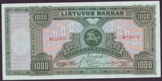 LITHUANIA+currency+1000+Litu.jpg (1200×602)