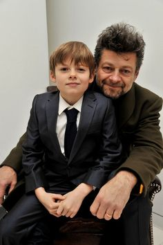 Andy Serkis with his son Louis - English National Ballet Nutcracker Pre-Show Reception