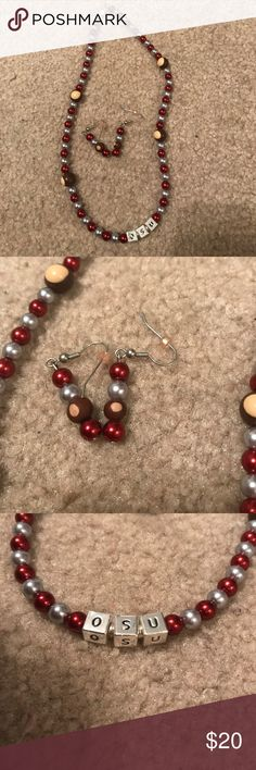 OSU earring and neckalace Do these work? @barbmphillips & Other Stories Jewelry Earrings
