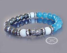Buddha bracelet Yoga meditation bracelet Buddha by EmpathyGifts