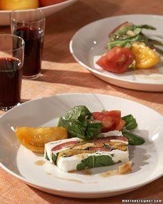 Arugula, Tomato, and Goat-Cheese Terrine