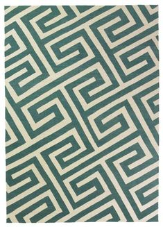 Key Turquoise Rug By Suzanne Sharp For Company