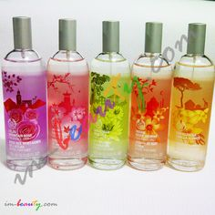 Fragrance Body Mist SOTW from The Body Shop 100ml ' Atlas Mountain Rose: Dawn In The Valley ' Japanese Cherry Blossom: A Spring Day In Maruyama Park ' Amazonian Wild Lily: Deep In The Rainforest ' Indian Night Jasmine: By The Light Of The Moon ' Madagascan Vanilla Flower: On A Tropical Island