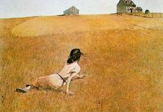 One of my favorites.  Christina's World by Andrew Wyeth.