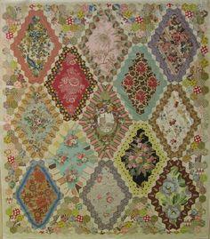 NANTES - Entre Nous  Brigitte Giblin quilt.  Not so bright so some details of the fabrics show better.
