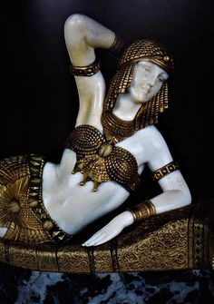 Art deco bronze statue.