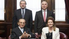 Carlos Fayt, en su última reunión de acuerdo de la Corte Suprema.- 08 de diciembre de 2015