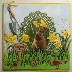 marianne design maart 2016 - Google zoeken Envelope Art, Bird Cards, Marianne Design, Flower Cards, Spring Time, Paper Cutting, Cardmaking, Craft Projects, Stamp