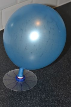 Glue + CD + Bottle Cap + Balloon = Hovercraft!