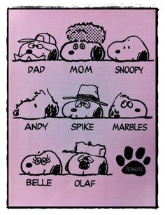 SNOOPY'S FAMILY