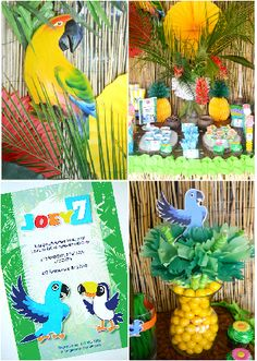 Rio Birthday Party Printables and DIY decorations