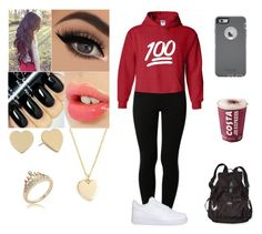 """""""OOTD"""" by dee-with-mari ❤ liked on Polyvore featuring Anna Field, NIKE, Charlotte Tilbury, Kate Spade, J.Crew, Victoria's Secret PINK and OtterBox"""