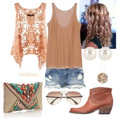 Cute Summer Country Outfit, great idea for this weekend concert! ❤   CLICK THIS PIN if you want to learn how you can EARN MONEY while surfing on Pinterest