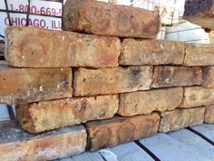Chicago Sand Buff & Pink Bricks have a much grittier texture compared to the common brick and are mainly used for interior wall projects, patios in warmer climates and also new construction.