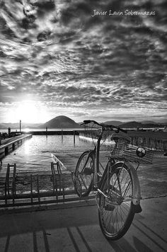 Santoña Jack Kornfield, Art Photography, In This Moment, Black And White, Bicycles, Cities, Scenery, Fine Art Photography, Black N White