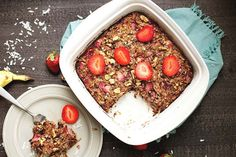 This Strawberry Coconut Breakfast Bake is reminiscent of baked oatmeal, without the grains! You'll love this healthy and delicious alternative to traditional hot breakfasts. Paleo and grain-free! Strawberries, coconut, bananas, walnuts, chia seeds, and a dash of cinnamon flavor up this yummy breakfast that is kid approved! You guys, I can actually get on board... Get the Recipe