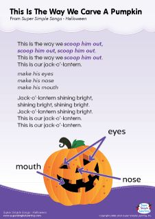 Lyrics poster for Knock Knock. Trick Or Treat? (Part 2) Halloween song from Super Simple Learning. #kidssongs …   Lyric poster. Preschool songs ...