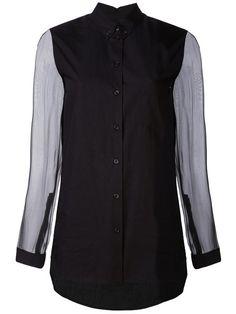 DAMIR DOMA . #damirdoma #cloth # Damir Doma, Button Down Collar, Shirt Sleeves, Black Cotton, Hemline, Vest, Shirt Dress, Mens Tops, Jackets