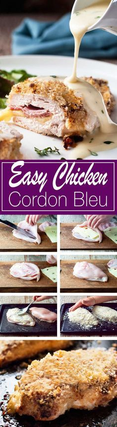Love this shortcut version – so easy and quick! Everyone DEVOURED it! Love this shortcut version – so easy and quick! Everyone DEVOURED it! I Love Food, Good Food, Yummy Food, Turkey Recipes, Chicken Recipes, Recipe Chicken, Easy Chicken Cordon Bleu, Le Diner, Food Dishes