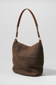 Slouch Straw Hobo Bag Choosing bags in line with figure Bags are probably the most National Friendship Day, Crochet Sandals, Summer Necklace, Crochet Purses, Cute Bags, Knitted Bags, Hobo Bag, Handbag Accessories, Purses And Bags
