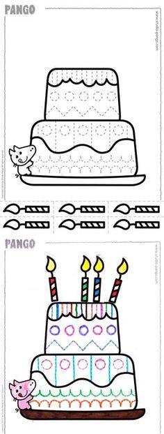 A BIG birthday cake ! #cutting #coloring #birthday