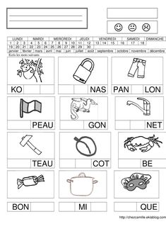 Maternelle Grande Section, French Language Lessons, Syllable, Teaching French, Camille, Learning, School, French Language, Kindergarten Reading