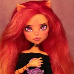 Ooak custom Monster High doll repaint / ever after high by SvBaryshevaOOAKDolls Bratz Doll, Ooak Dolls, Doll Toys, Art Dolls, All Monster High Dolls, Monster High Repaint, Unicorn Doll, Doll Repaint, Custom Dolls