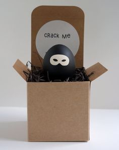 This might be a cute addition to the bf's Easter care package... Ninja egg. Crack to Reveal Your Personal Message.   Long Distance Relationship by Little Okins