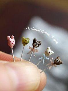 Dollhouse Miniature Animal Cake Pops by diann